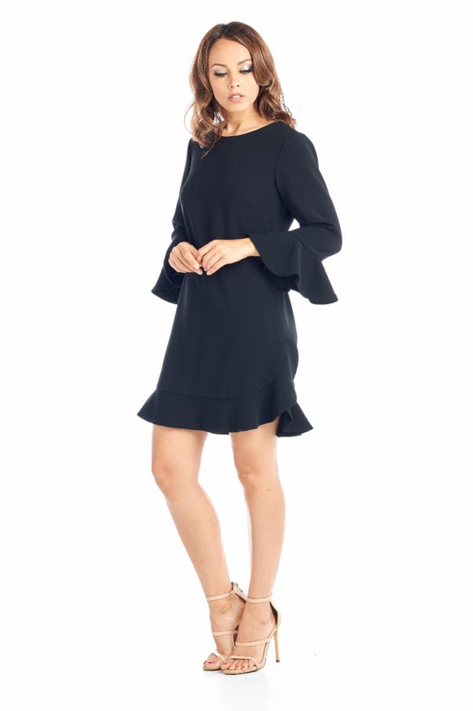 Love Shift Long Sleeve Black Short Dress - Prom And Bridal Dress House