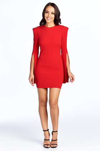 Who is That Girl Long Sleeve Short Dress