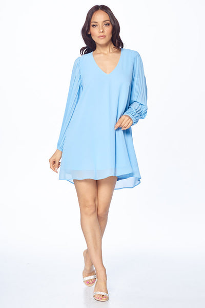 Little Miss Sunshine Long Sleeve Chiffon Short Dress - Prom And Bridal Dress House