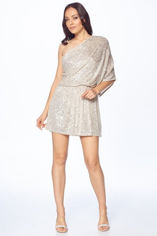 One Shoulder Tunic Dress - Prom And Bridal Dress House