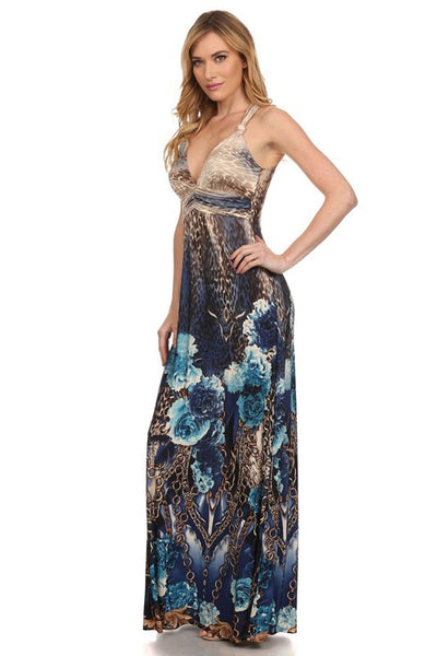 Summer Long Printed Dress - Prom And Bridal Dress House