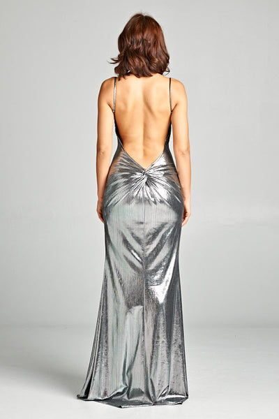 Essence of Style Silver Maxi Dress - Prom And Bridal Dress House