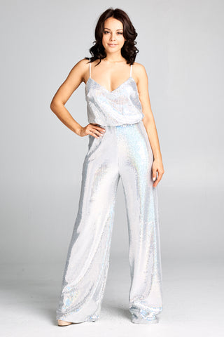 Boogie Nights Silver Jumpsuit - Prom And Bridal Dress House