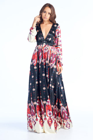 Adventure Finder Long Sleeve Maxi Dress - Prom And Bridal Dress House