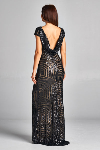 Evening Sequin Long Dress