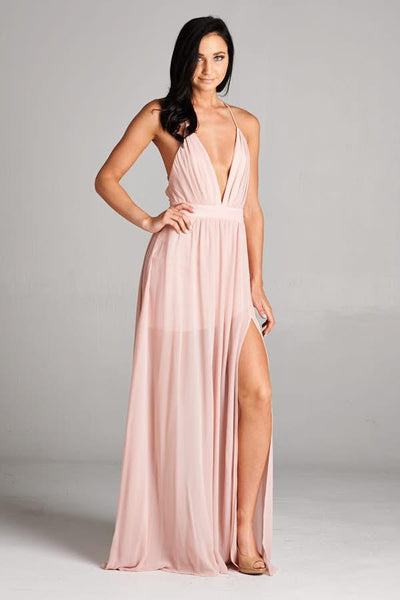 Long Cocktail Chiffon Dress - Prom And Bridal Dress House