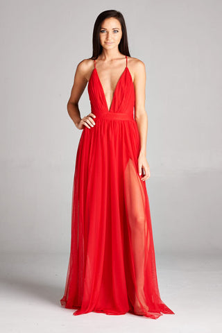 Reach Out Red Maxi Dress