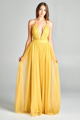 Simple Vibes Tulle Maxi Dress