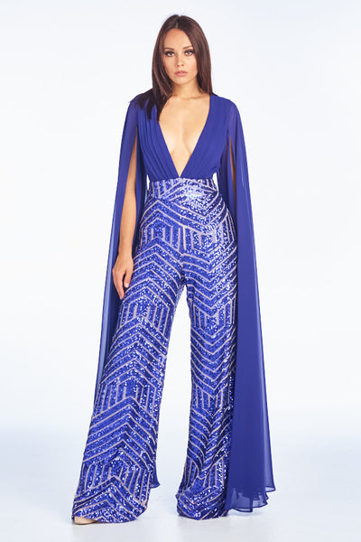 Shining Angel Sequin Jumpsuit