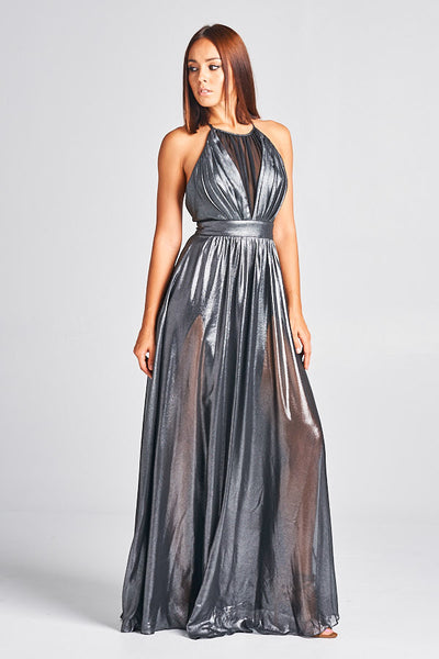 Extraordinary Love Gold or Silver Maxi Dress - Prom And Bridal Dress House