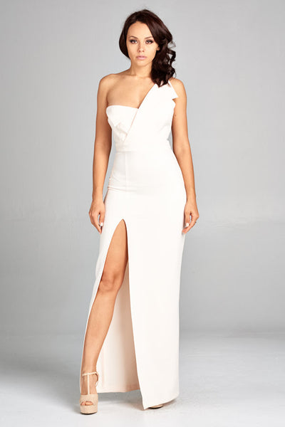 Angel Wing One Shoulder Nught Out Dress - Prom And Bridal Dress House