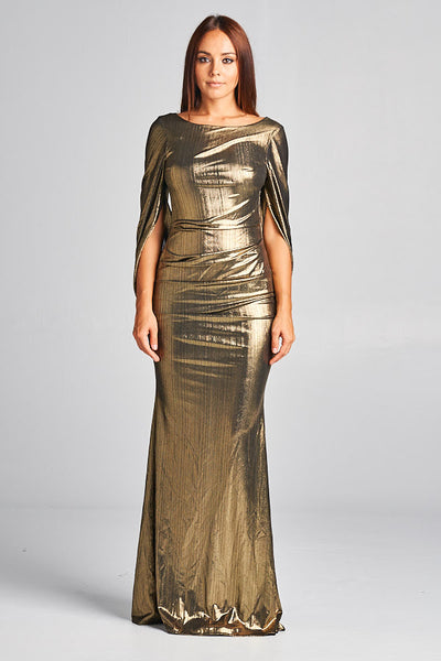 It's Now or Never Long Gold Dress - Prom And Bridal Dress House