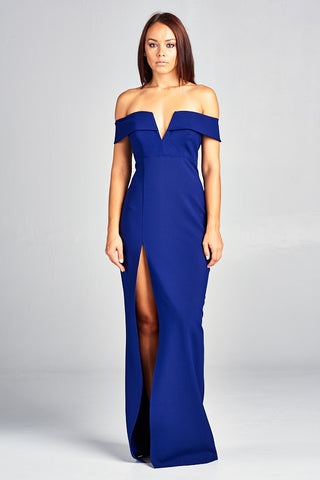 Own The Night Off Shoulder Long Dress