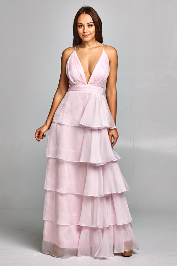 Heavenly Silk Organza Tiered Gown - Prom And Bridal Dress House