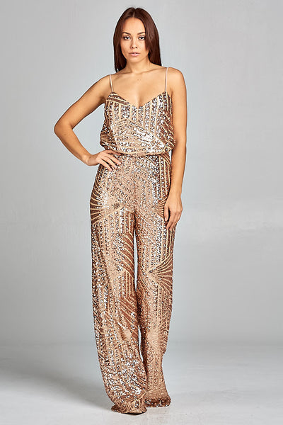Cease the Night Sequin Jumpsuit - Prom And Bridal Dress House