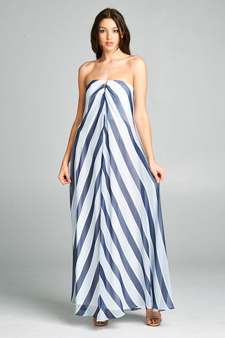 Sail Me Away Striped Maxi Dress - Prom And Bridal Dress House