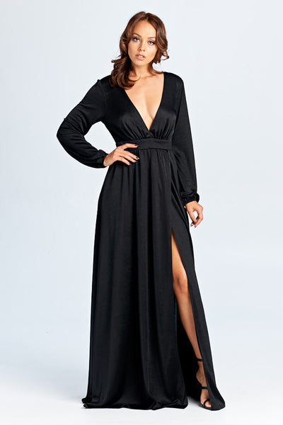 Midnight Wish Long Sleeve Maxi Dress - Prom And Bridal Dress House