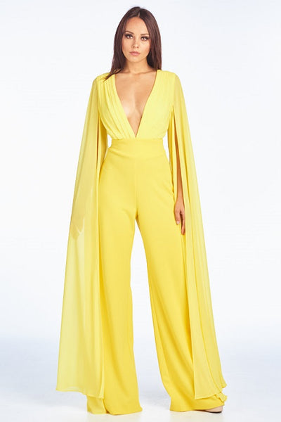 Fallen Angel Yellow Jumpsuit - Prom And Bridal Dress House
