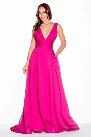 Statement Lover V Neck Maxi Dress