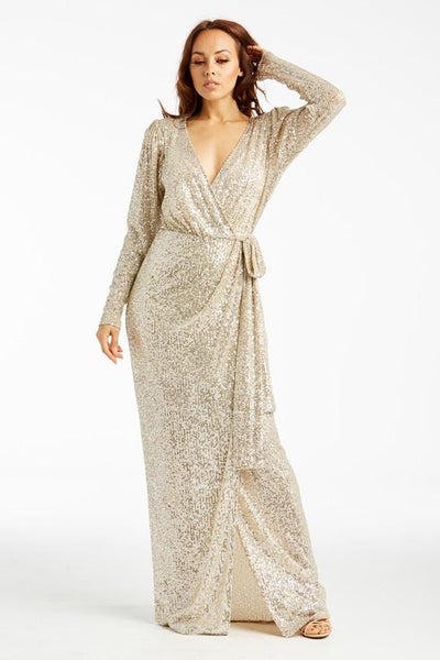 Feeling Amazing Long Sleeve Sequin Evening Dress - Prom And Bridal Dress House