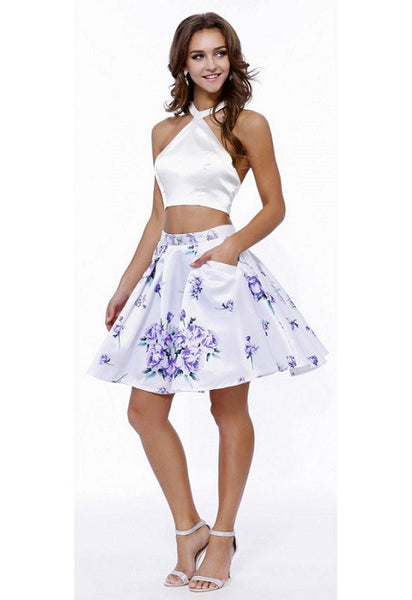Short Prom Cocktail Two Pieces Dress - Prom And Bridal Dress House