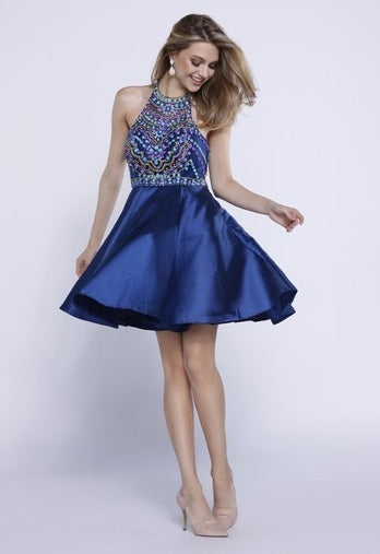 Halter Cocktail Dress - Prom And Bridal Dress House