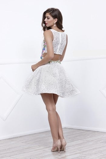 Lace Short Sleeveless Cocktail Dress - Prom And Bridal Dress House