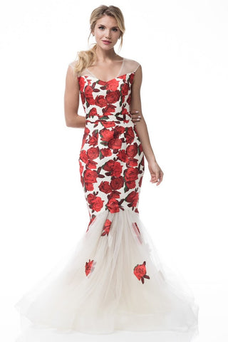 Sleeveless Mermaid Evening Dress