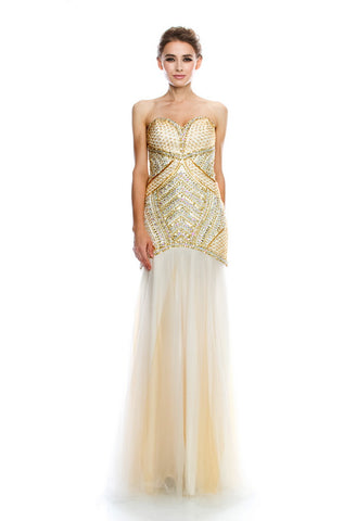 Gold Long Evening Dress - Prom And Bridal Dress House