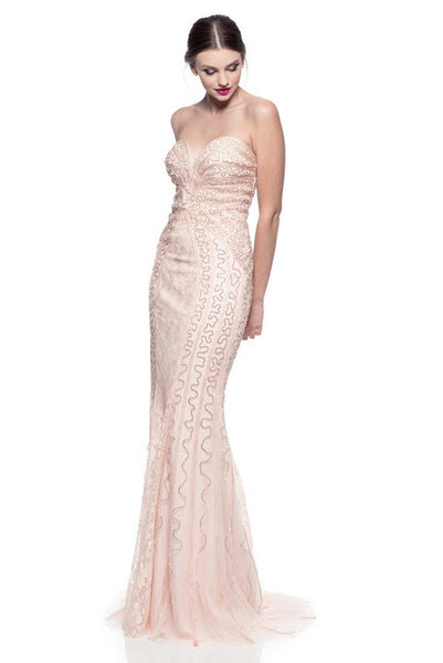 Prom Cocktail Evening Party Dress Beading Lace Long - Prom And Bridal Dress House