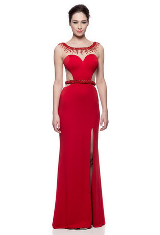 Stunning Red Long Evening Dress