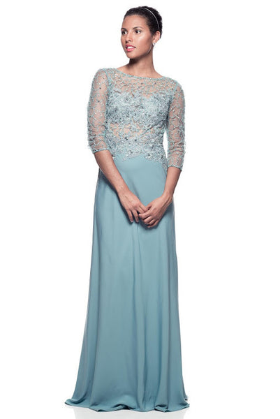 Evening 3 Quarter 3/4 Sleeve Dress - Prom And Bridal Dress House