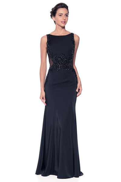 Long Evening Sleeveless Black Dress - Prom And Bridal Dress House