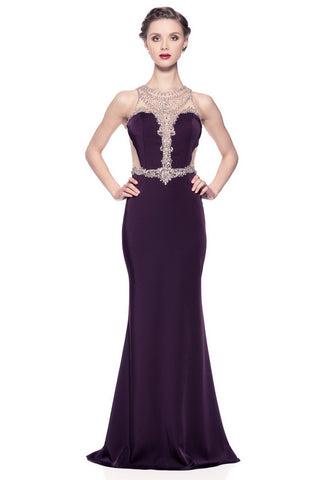 Elegant Plum Long Evening Dress - Prom And Bridal Dress House