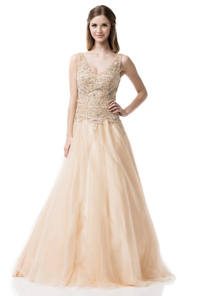 Sweetheart V-Neck Ball Gown
