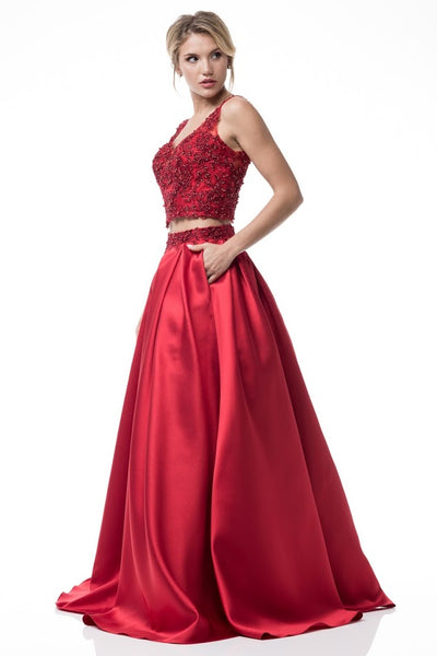 2- Piece Set Long Evening Dress - Prom And Bridal Dress House