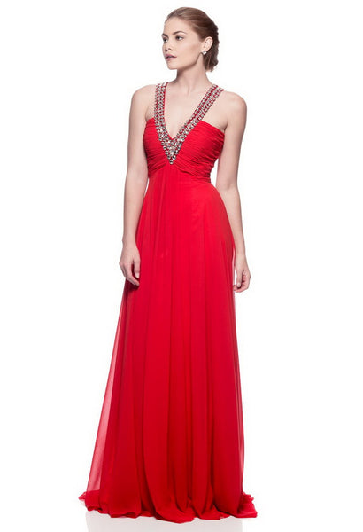 Cute Red Long Evening Dress - Prom And Bridal Dress House