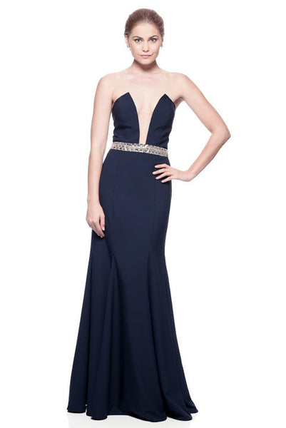 Stripe Less Long Evening Dress - Prom And Bridal Dress House