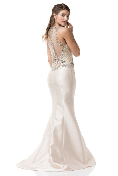 Scoop Neck Sleeveless Prom Evening Long Dress - Prom And Bridal Dress House