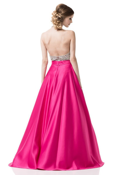 AG Studio Evening Prom Fuchsia Long Dress