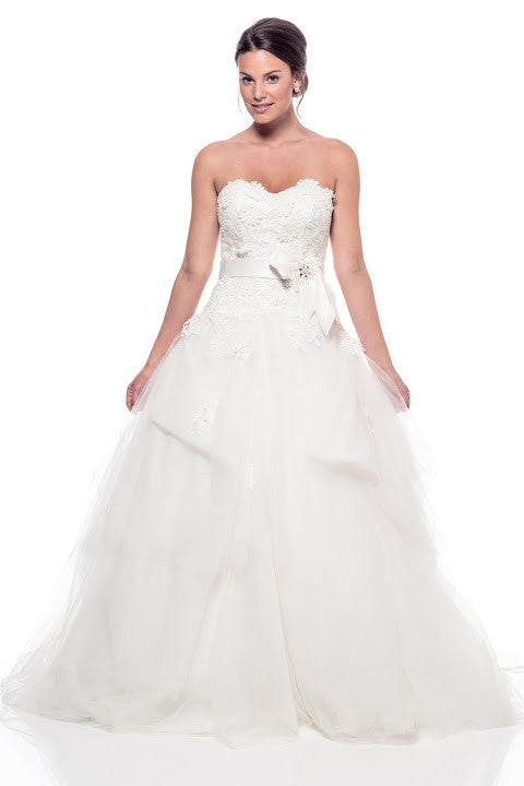 Wedding Empire Waist Off White Dress - Prom And Bridal Dress House