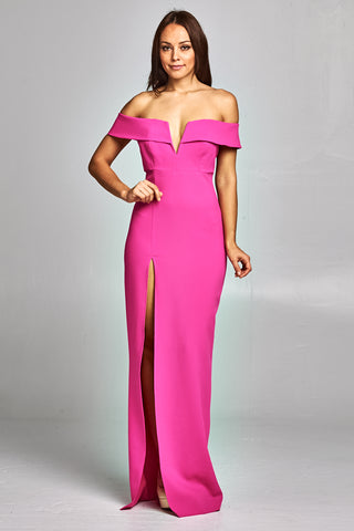 Strike a Pose Off Shoulder Long Dress