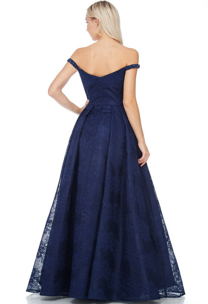 Off Shoulder Evening Dress - Prom And Bridal Dress House