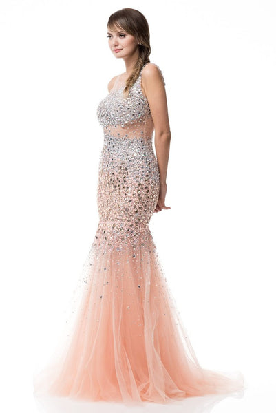 Sleeveless Mermaid Evening Prom Dress