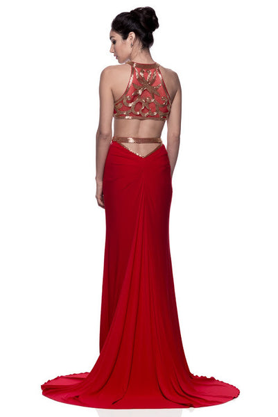 Evening Halter Neck Sheath Long Dress - Prom And Bridal Dress House