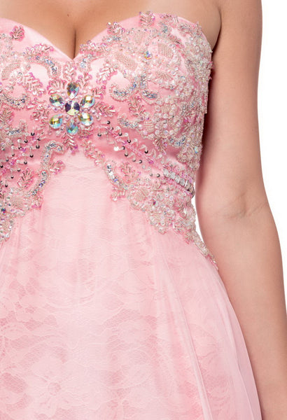 Cute Pink Long Evening Dress - Prom And Bridal Dress House