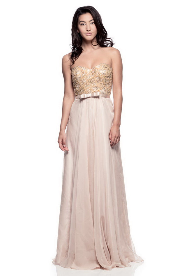 Flawless Gold Long Evening Dress - Prom And Bridal Dress House