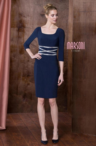 Long Sleeve Body-con Jersey Dress