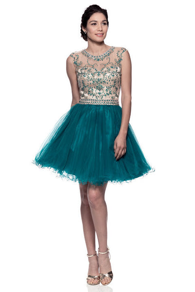 Prom Short Emerald Dress - Prom And Bridal Dress House