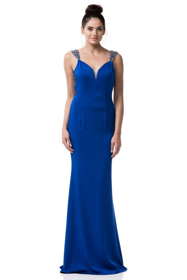Sleeveless Prom Evening Long Dress